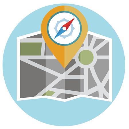 location icon: Flat colored location icon design Illustration