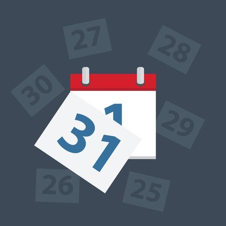 Vector kalender apps icoon. Laatste dag van de maand,