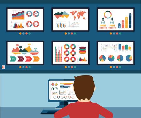 monitoreo: Información analítica, información gráfica y desarrollo de sitios web estadística.