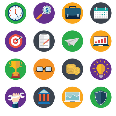 design objects: Web design objects, delivery, business, office and marketing items icons