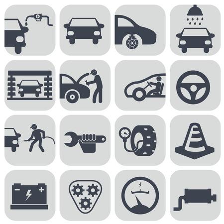 Vector auto car icons set. Stock Illustratie