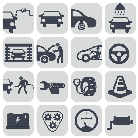 Vector auto car icons set. Illustration