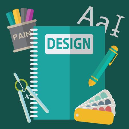 hardware configuration: Graphic  web design icons flat style.