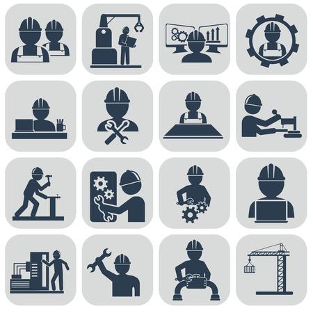 Engineering vector icons set on gray. Reklamní fotografie - 39120440