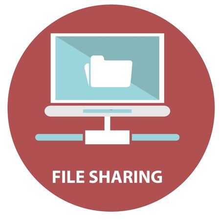 file sharing: File sharing concept  Folder with Documents Icon