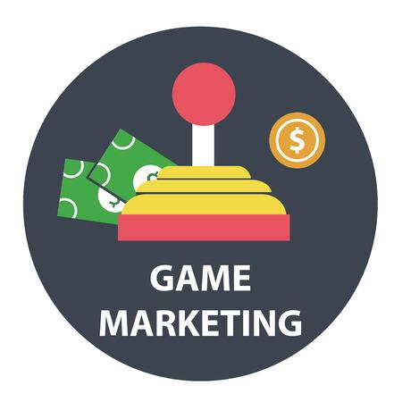 monetizing: Game marketing and monetizing design concept .