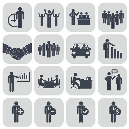 인적 자원 및 관리 아이콘 설정 일러스트