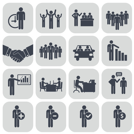 Human resources and management icons set Reklamní fotografie - 39120658
