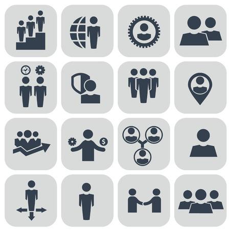자원 및 관리 아이콘 인간의 설정