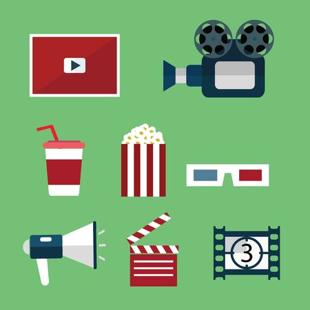 hd video: Video and Movie icons set
