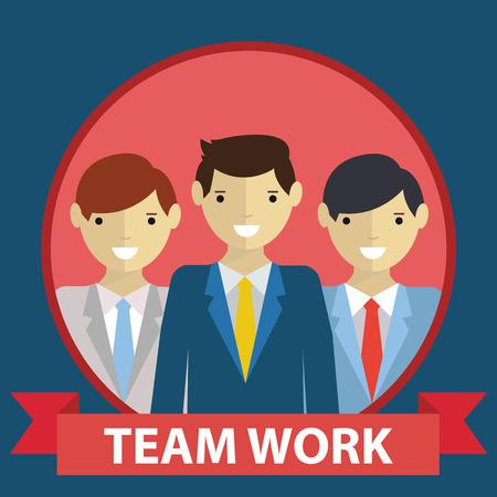 business team: Business team team work concept in flat modern design