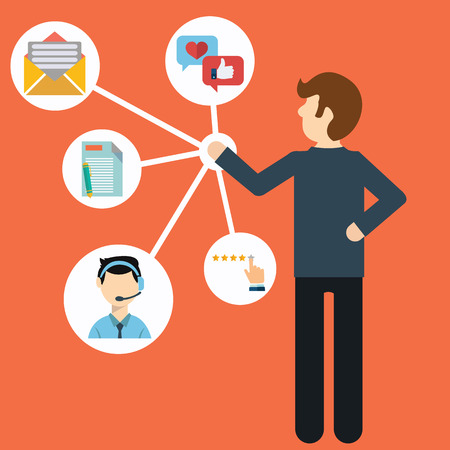 productividad: Customer Relationship Management. Vectores