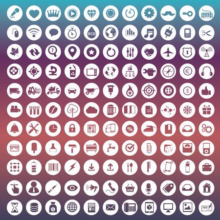 Set van iconen voor web-en user interface design
