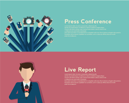 journalism: Journalism concept illustration in flat style.