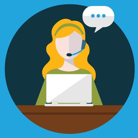 Iconos planos de atención al cliente de negocios concepto de servicios establecidos en contacto con nosotros de soporte de mesa de ayuda llamada de teléfono y página web clic para el diseño de infografías ilustración vectorial elementos de la web. Foto de archivo - 39187172