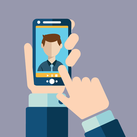 Video call, Online conference smart phone