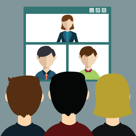 Video conference, online meeting Illustration
