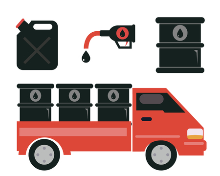 barel: Oil transport , gas station and refinery