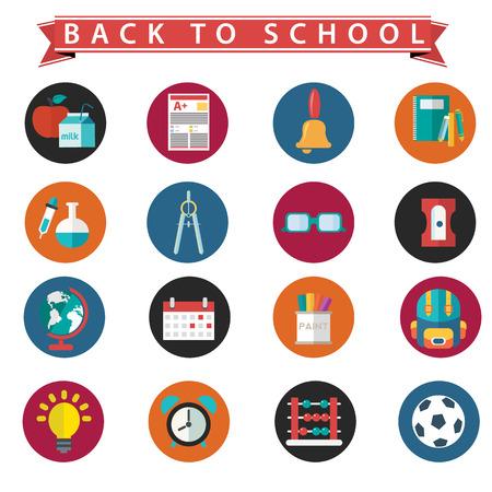 school icon: Back To School icon set Illustration
