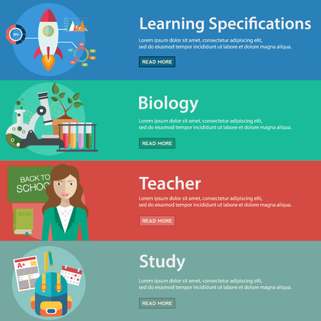 specifications: Education and Science vector illustration