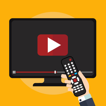 tutorials: Video tutorials on TV icon concept. Study and learning background, distance education and knowledge growth. Video conference and webinar icon