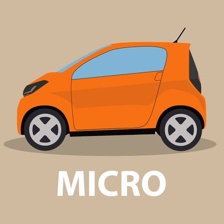 vehicle track: Car micro car vehicle transport type design Illustration