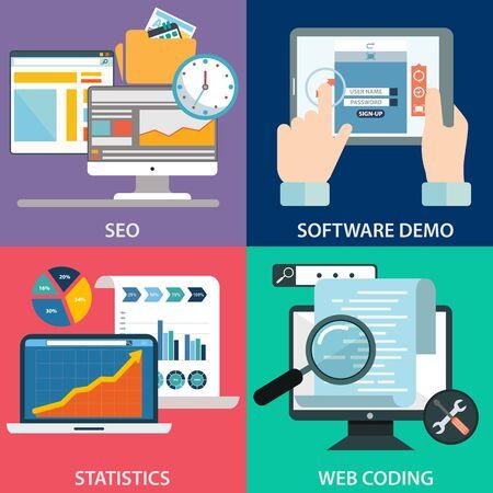 wiki: Web design and codding concept