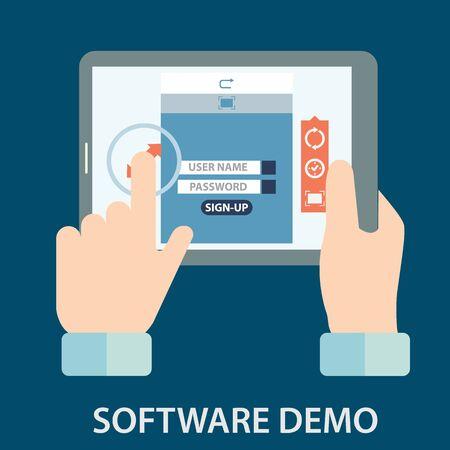 Software demo testing vector Reklamní fotografie - 63265398