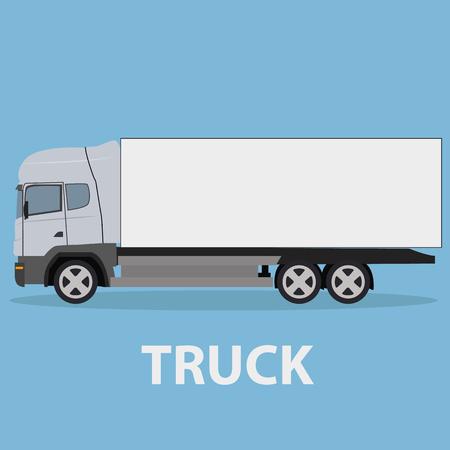 transport truck: Truck vehicle transport type design Illustration