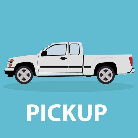 pickup: Car Pickup vehicle transport type design Illustration