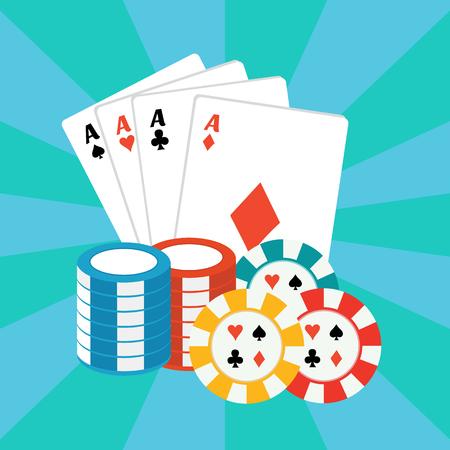 jackpot: Vector gambling casino elements, jackpot playing card