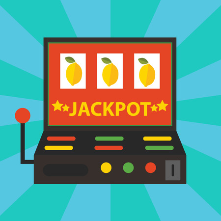 jackpot: Vector gambling casino elements, jackpot playing
