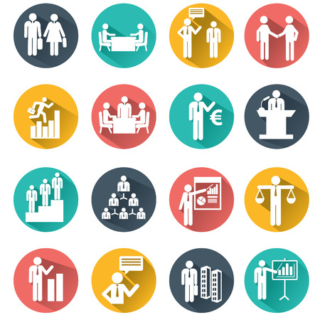team group: Human resources and management icons set. Illustration
