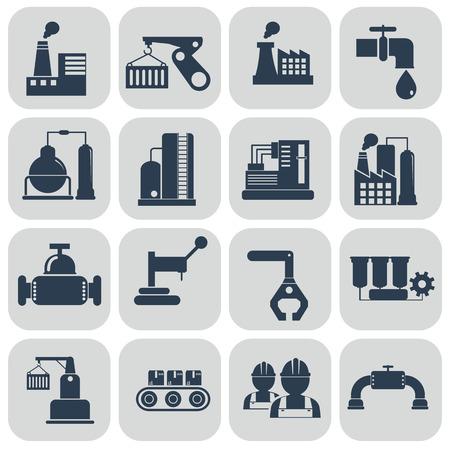 Vector illustration industry factory modern icons set. Imagens - 66646471