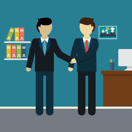 promising: Flat modern design of Businessman shaking hands Illustration
