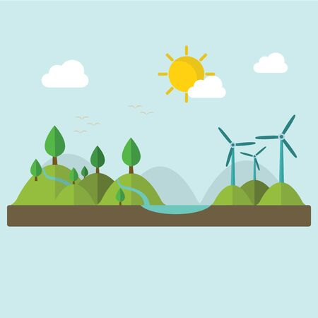 Renewable energy like hydro, solar, geothermal and wind power generation facilities.
