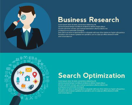 Search Engine Optimization programming business up trend statistics flat design style. Link between information system strategy and business strategy.