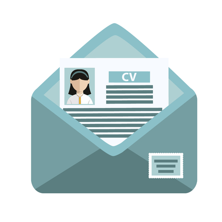 Search for job, sending CV vector illustration