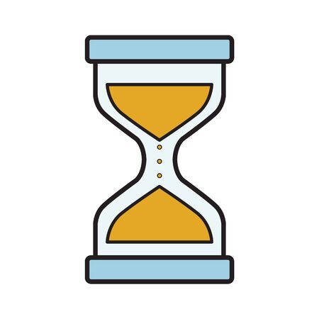 Modern flat vector icon of hourglasses vector illustration Ilustrace
