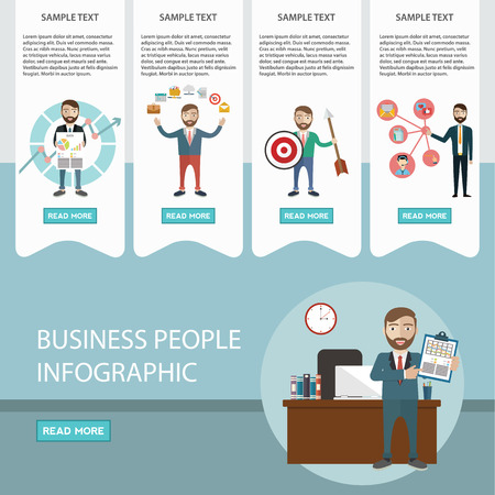 Business process infographics. Brainstorm, big idea, consulting, partnership, contract. Flat style.