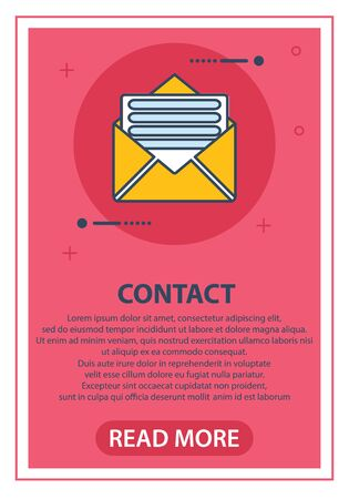Contact support Concept Banner Illustration with Icon