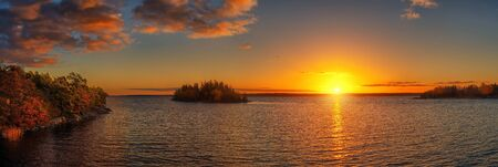 Sunset in the Swedish Archipelago photo