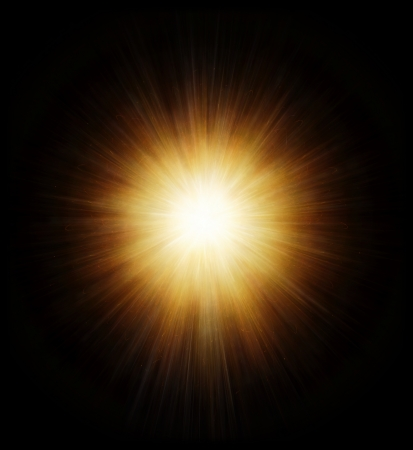 High power explosion isolated on black Stock Photo - 17021913