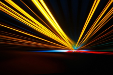 Abstract night acceleration speed motion Stock Photo - 17067523