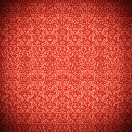 Vintage red ornate wallpaper pattern Stock Photo - 17154360