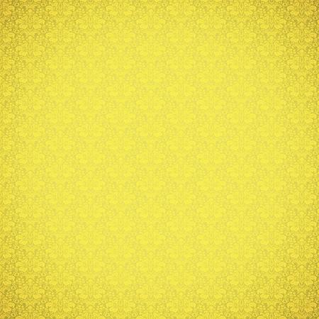Vintage yellow ornate wallpaper pattern Stock Photo - 17154351