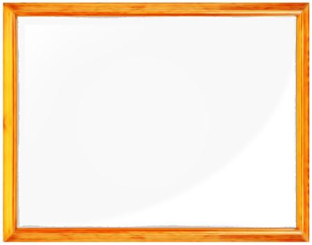 Gold vintage wood frame isolated on white background Stock Photo - 17154355
