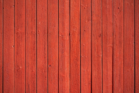 Old, red grunge wood panels used as background