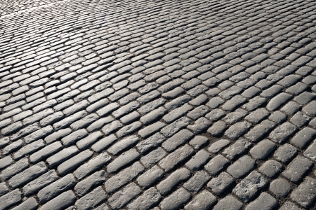 Cobblestones lighted by the evening sun, Stockholm Old Town Stock Photo - 19064205