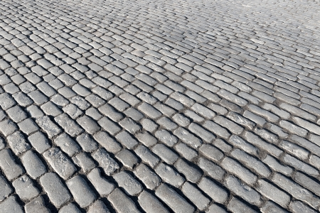 Ancient granite cobblestone pavement background  Stock Photo - 19064204